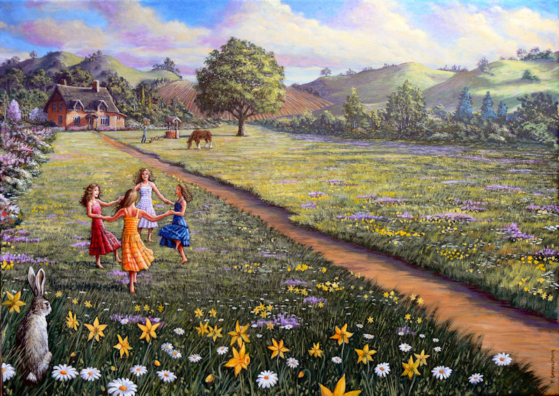 Spring Time Flowers Painting by Peter Gerasimon