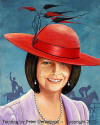"""The Lady with the  red Fascinator Hat"" Julia Gillard"