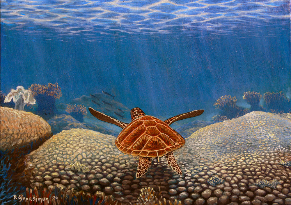 Under the Sea Coral Marine Life Painting by Peter Gerasimon
