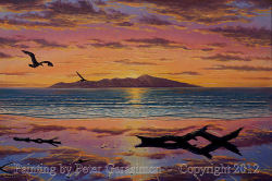 Kapiti Island Painting by Peter Gerasimon