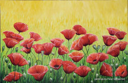 Poppies Painting by Peter Gerasimon