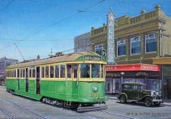 Melbourne Trams by Peter Gerasimon Painting